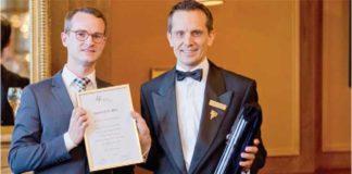 Christoph Kokemoor als Gewinner des DWI Alpen-Cup 2014 geehrt