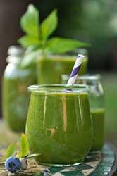 Grüne Smoothies sind lecker und gesund.