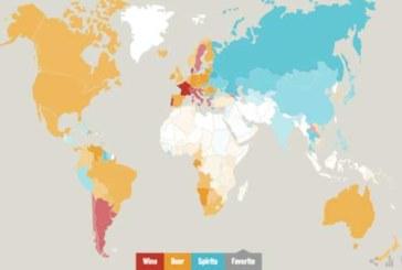 Infografik: Die Weltkarte der Trinkgewohnheiten