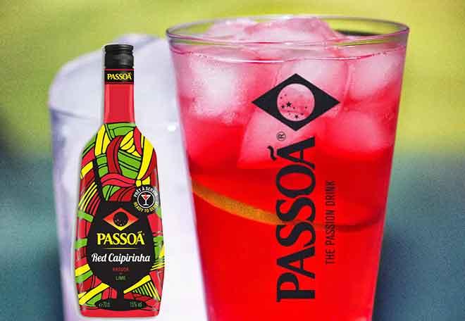 Passoã Red Caipirinha: Brasilianischer Cocktail mit einem Schuss Passionsfrucht