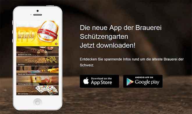 Bier-App für Fans der Brauerei Schützengarten