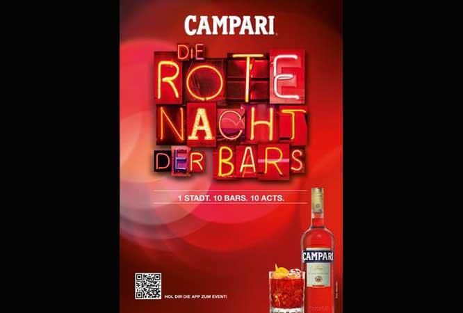 """Campari """"Rote Nacht der Bars"""" 2015: angesagte Drinks – coole Sounds"""