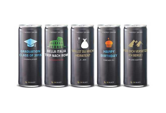 Mit 28 BLACK zum Traualtar Energy Drink Fans stellen Kreativität unter Beweis