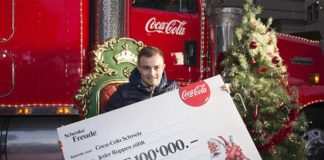 Coca-Cola Weihnachtstruck: Shaqiri-Mania in Bern