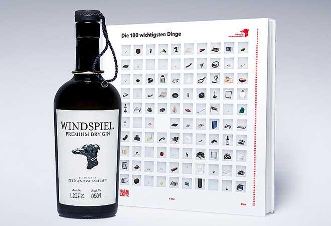 Windspiel Gin Sonderedition für Institut für Zeitgenossenschaft