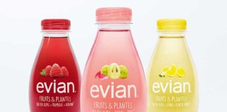evian Mineralwasser lanciert Fruits & Plantes