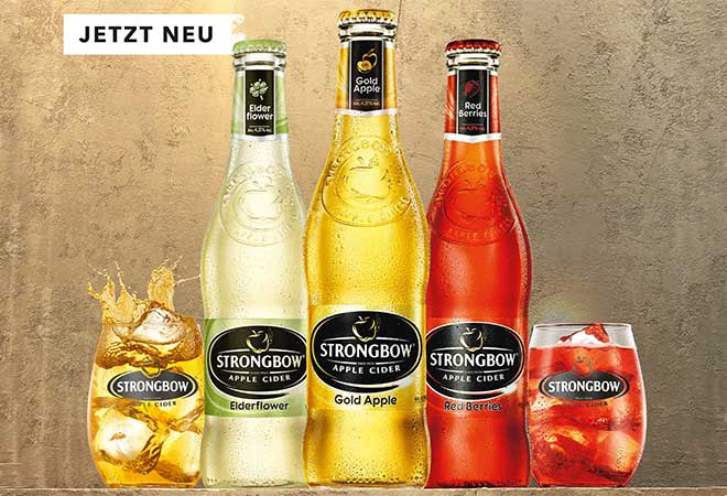 heineken lanciert strongbow cider in der schweiz drinks more. Black Bedroom Furniture Sets. Home Design Ideas