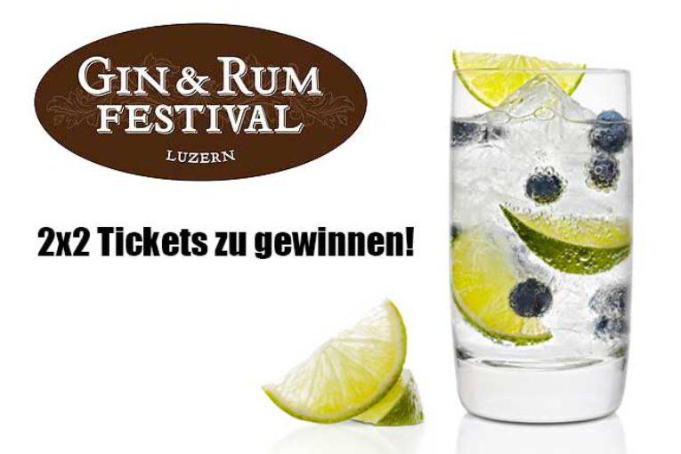 Wettbewerb: 2x2 Tickets für das Gin & Rum Festival Luzern zu gewinnen