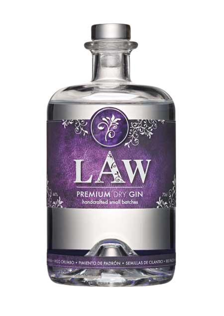 Die LAW Gin Flasche