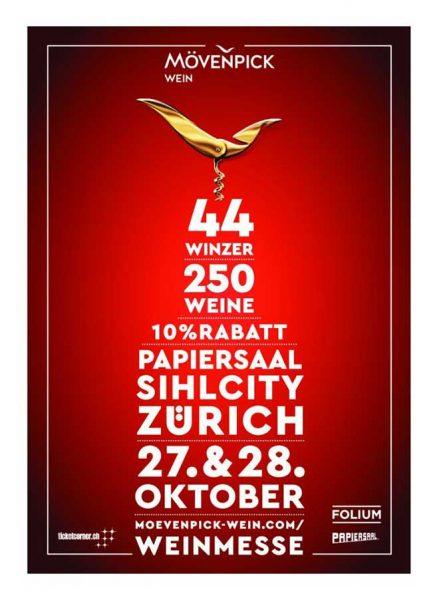 Plakat Mövenpick Weinmesse in Zürich