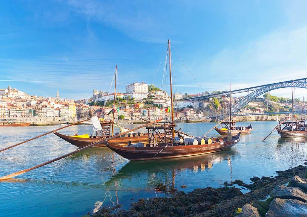 Der Hafen in Porto.