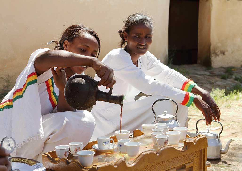 Kaffeezubereitung in Äthiopien