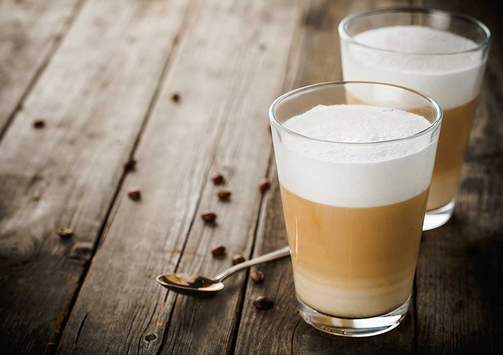 Beliebt in Italien: der Latte Macciato
