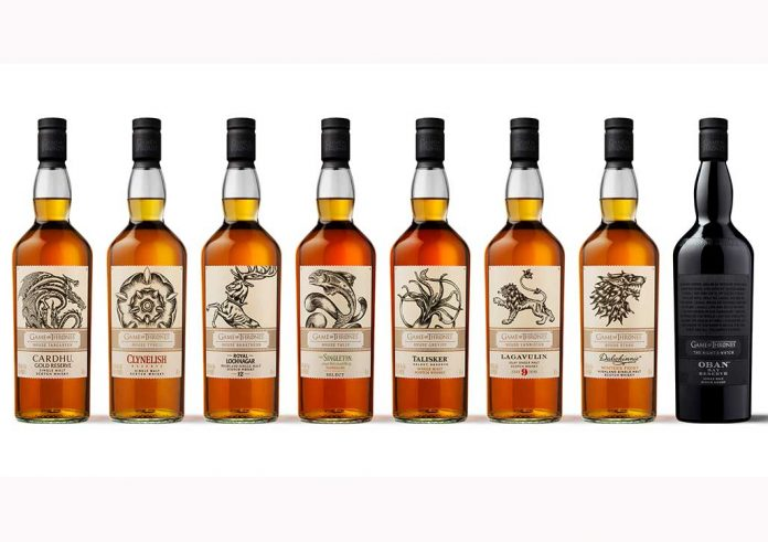 DIAGEO bringt limitierte Game of Thrones Collection heraus